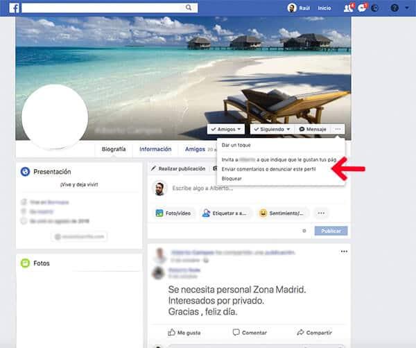 Dar de baja cuenta Facebook