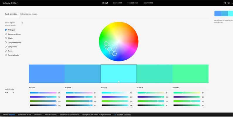 CC Color Wheel de Adobe